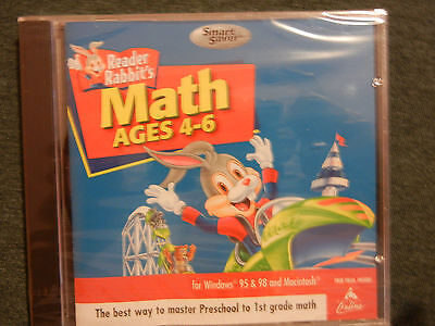 NEW READER RABBIT MATH 4-6 YEARS OLD CD SEALED YEAR 2001 WINDOWS 3.1-95-98-XP*](6 Years Old Games)
