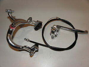 Fahrradbremse Felgenbremse Reparatur Bremse Komplet m Zug u Hebel Satz Nr.15105