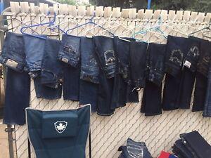 Women's jeans guess,silver, true religion,