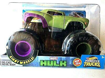 HOT WHEELS 2020 Monster Jam Trucks The HULK 1/24 Marvel Giant Wheels New Sealed
