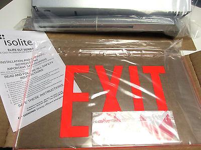 Nib Isolite Elite Elt Series Led Edgelit Exit Sign Cat Eltemr1cbarcuc.. Ul-800