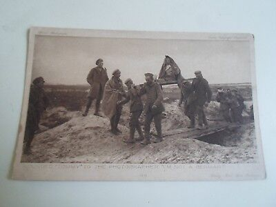 """Vintage Postcard """"WOUNDED TOMMY"""" Daily Mail War Battle Pictures  §A870"""