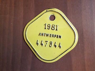 Plaque de vélo 1981
