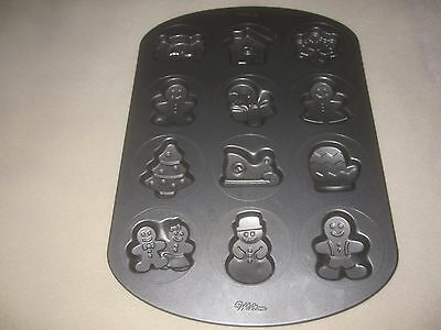 CAKE/COOKIE PAN BY WILTON - 12 CHRISTMAS DESIGNS ~ 2250