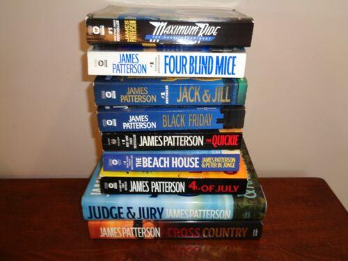 James Patterson Lot of 9 Books 2 Hardcover & 7 Paperbacks