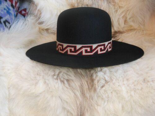 TWIST OF FATE HANDLOOMED BEADED HATBAND/INDIAN JOE ROUND DOME HAT
