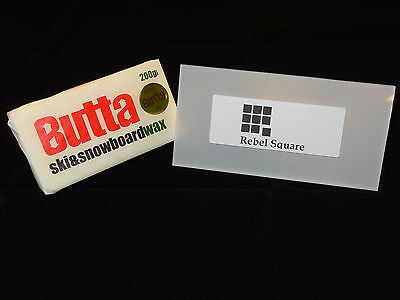 Butta Original Ski & Snowboard Wax 200g + FREE Large Scraper & Base Guide