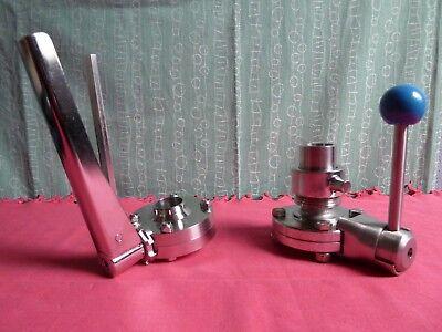 DN 25, Va 1.4301/4 Scheibenventil von Firma EGMO, auf dem Hauptfoto das linke !