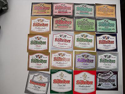 20 alte Bieretiketten  Bad Köstritz  1