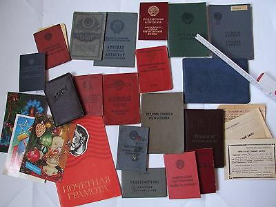 Konvolut Sammlung Dokumente Urkunde Ausweis UdSSR Sowjetunion Russland Ukraine
