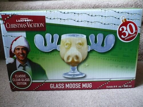 Christmas Vacation Glass Moose Mug, 8 Oz. National Lampoon, 30th Anniversary