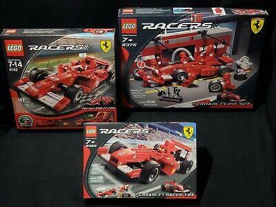 Set of 3 LEGO Racers FERRARI F1 #8375 #8142 #8362 1:24 NiSB