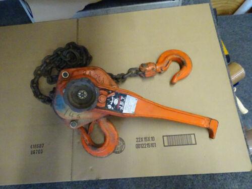 JET Mini Mite Puller 3 Ton Lever Chain Hoist Come-A-Long 2351 Y-300