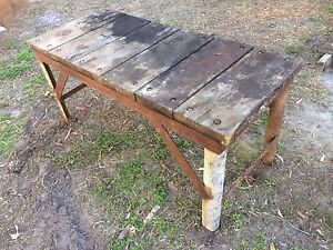 Old style timber workbench Mountain Creek Maroochydore Area Preview