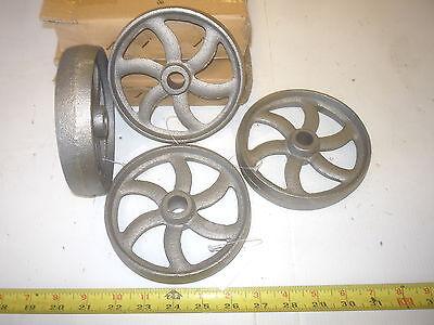 12 Cast Iron Wheel  Sm Hit Miss Gas Engine Maytag Cart Curved Spoke Wheel
