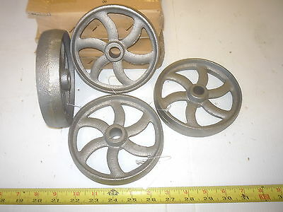 4  CAST IRON COFFEE TABLE , GAS ENGINE   CURVED 6 SPOKE WHEEL