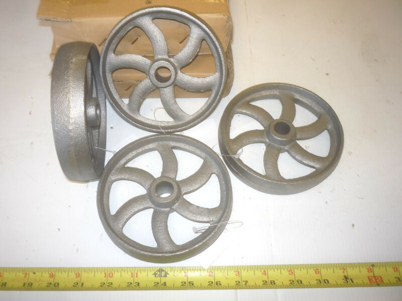 4   CAST IRON   INDUSTRIAL CART  COFFEE TABLE    CURVED 6  SPOKE  WHEEL