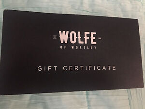 Wolfe of Wortley gift card