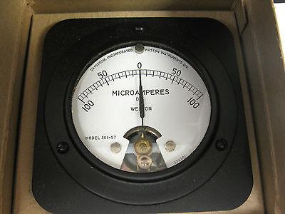 Daystrom Weston 301-57 Dc Micro-amperes Panel Voltmeter 0-100