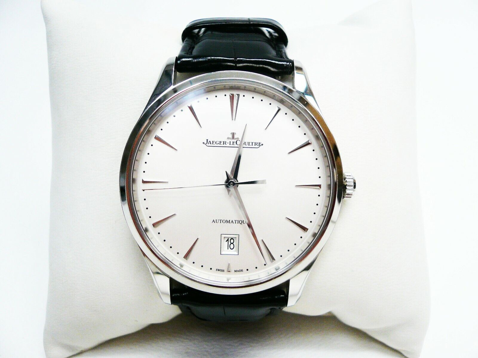 Jaeger-Lecoultre Master Ultra-Thin SS Date Q1238420 109.8.37.S Auto Box/Papers! - watch picture 1