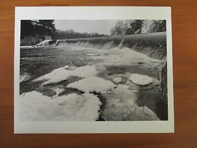 Vintage Glossy Press Photo Natick Mass Winter Scene At The Natick Falls (The Natick Collection)