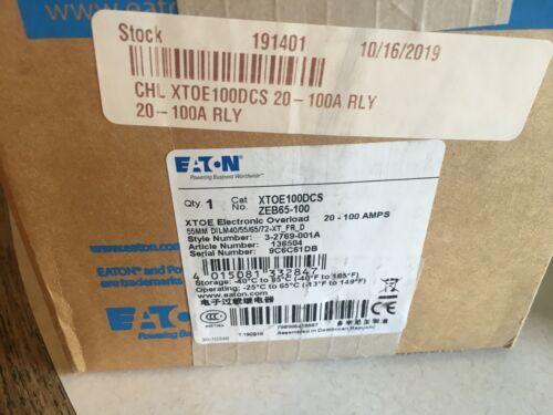 XTOE100DCS EATON ZEB65-100 XTOE ELECTRONIC OVERLOAD 20-100 A