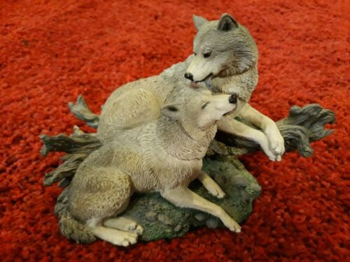 "Two Wolf Sculpture Livingstone ""Commitment II"""