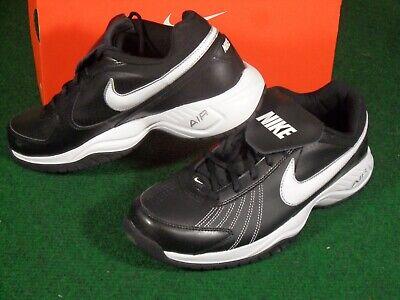 - New Mens Nike Air Diamond Trainer Turf Baseball Football Shoe Cleats Black White