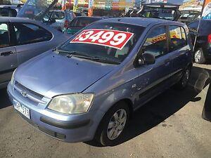 2002 Hyundai Getz Hatchback Rego Rwc $2999 Coburg Moreland Area Preview
