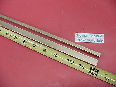 2 Pieces 14 X 12 C360 Brass Flat Bar 12 Long Solid .250 Mill Stock H02
