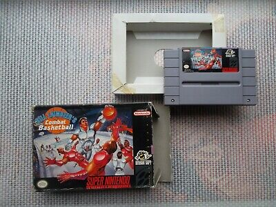 Jeu Super Nintendo/ Snes Bill Laimbeer's Combat Basketball +Boite Ntsc original*