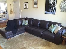 Excellent condition leather  sofa 5 seater with chase Newport Pittwater Area Preview