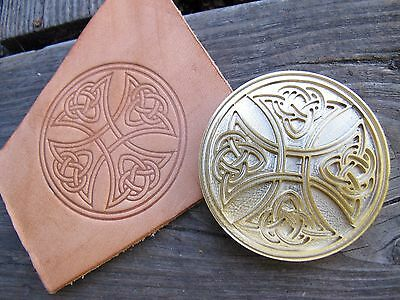 Brass Celtic Cross Bookbinding Letterpress Tool Stamp Leather Embossing Die