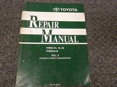 Toyota 7fbeu15 7fbeu18 Forklift Shop Service Electrical Troubleshooting Manual