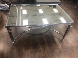 Mirrored coffee table and side table