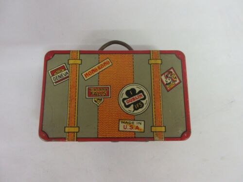 VINTAGE ADVERTISING MARX SUITCASE    TIN CHILDRENS   BANK    623-F