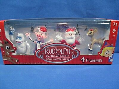RUDOLPH THE RED NOSED REINDEER FIGURINES FIGURES SET OF 4 BUMBLE CLARICE SANTA