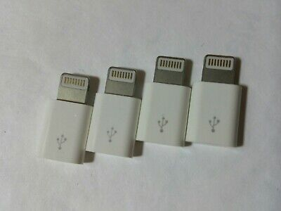 🔥4x Android Micro USB to 8 Pin Lightning Adapter for Apple iPhone 7 8 x 11 12