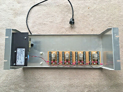 4x 4pdt Rack Mounted Relay Panel With 24 Volt Power Supply