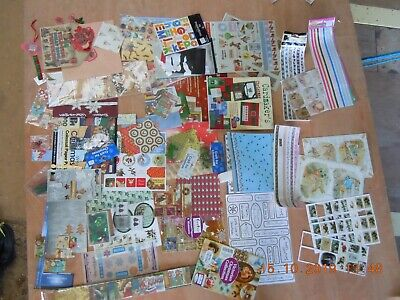 Christmas, Lables, Stickers, Decoupage, Glitter Sheets Embelishments, Paper Pack ()