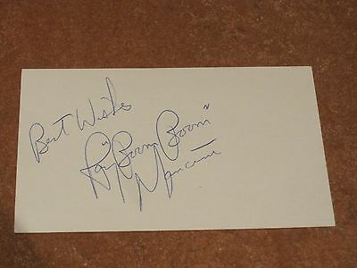 Ray Boom Boom Mancini Autographed Index Card PSA Pre-certified