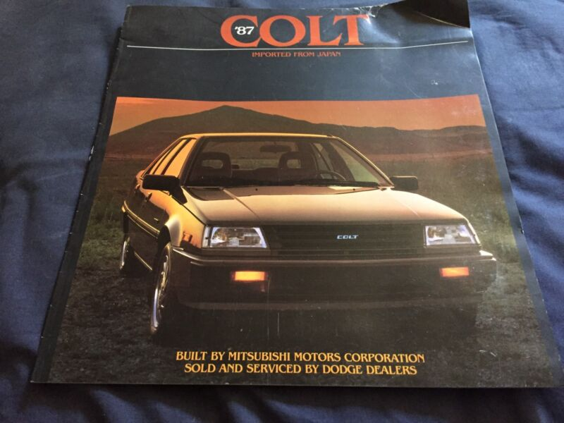 1987 Dodge Colt by Mitsubishi USA Market Color Sales Brochure Catalog Prospekt
