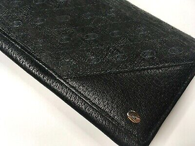 GUCCI VINTAGE ACCESSORY COLLECTION LEATHER CANVAS LONG WALLET MEN BIFOLD ITALY