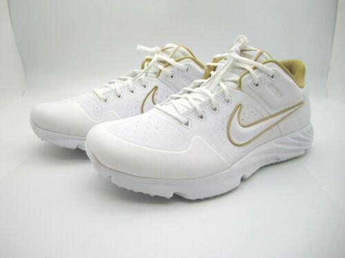 New Women Nike Alpha Huarache Elite 2 Turf Softball Shoe Sz 10US (CJ9988-100) A1