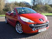 PEUGEOT 207 CC 1.6HDi CONVERTIBLE COUPE  GT 2007 07 REG