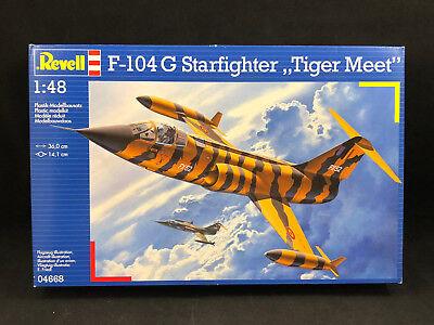 Revell F-104G Starfighter Tiger Meet 1:48 Scale Plastic Model Kit 04668 NIB