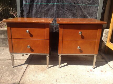 Retro side tables and set of drawers. Salisbury Brisbane South West Preview