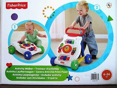 Mattel K9875 Fisher-Price Activity Lauflernwagen Lauflernhilfe Spielzeug