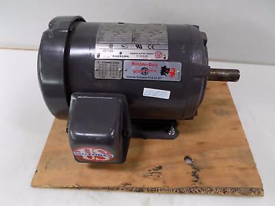 Emerson 3ph 1hp 1145rpm Electric Motor H1e3d 6205-2zjc3 T350