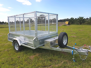 8x5  Galvanised Box Trailer 1000mm cage Braked ATM 1500KG Kemps Creek Penrith Area Preview
